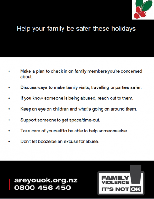Holiday safety messages