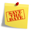 save the date post it note